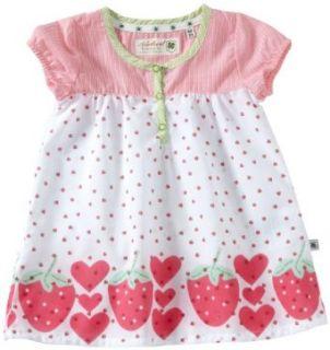 Adelheid Baby   M�dchen Babybekleidung/ Kleid 14111220655 / S�sses Fr�chtchen Erdbeere Babykleid, Gr. 68, Wei� (erdbeerchen wei�): Bekleidung