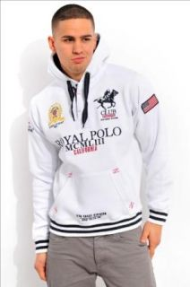 Geographical Norway ROYAL POLO CLUB NORWEGER ZIPPER Herren Sweatjacke Sweater Pullover Herren Sweatjacke Sweater Pullover Hoodie Jacke Zipper Navy Grau Weiss GYM S M L XL XXL WEISS (XL) Bekleidung