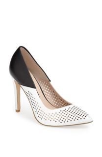 French Connection Maya 2 Perforated Two Tone Leather Pump