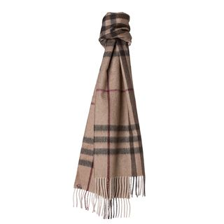 Burberry Smoked Trench Giant Check Cashmere Scarf Burberry Designer Scarves & Wraps