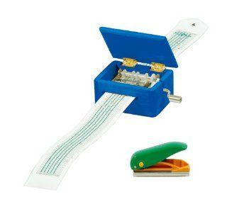 Spieluhr mit Lochstreifen, Geh�use aus Holz, mit Locher f�r eigene Kompositionen und 3 Melodienstreifen Spielzeug