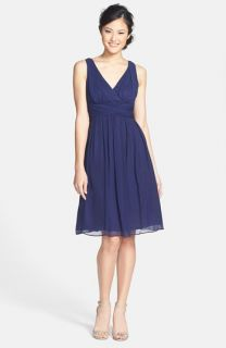 Donna Morgan Jessie Twist Silk Chiffon Dress (Regular & Plus)