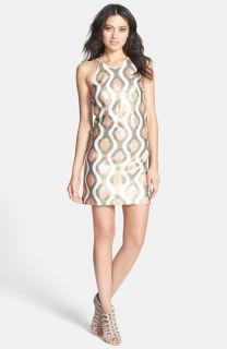 Dress the Population Jamie Sequin Shift Minidress