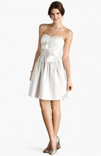 Donna Morgan Samantha Belted Satin Fit & Flare Dress (Online Only)