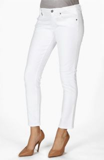Paige Denim Skyline Maternity Ankle Skinny Stretch Jeans (Optic White)