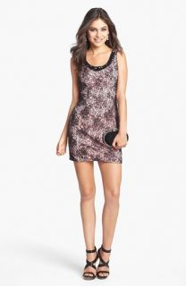 Sean Collection Embellished Lace Tank Dress