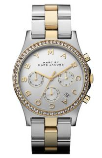 MARC BY MARC JACOBS Henry Chronograph & Crystal Topring Watch
