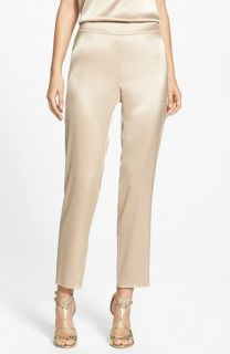 St. John Collection Emma Liquid Satin Crop Pants