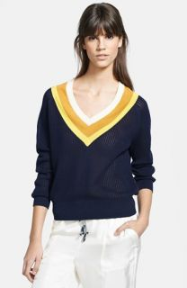 Band of Outsiders Stripe Tennis Sweater