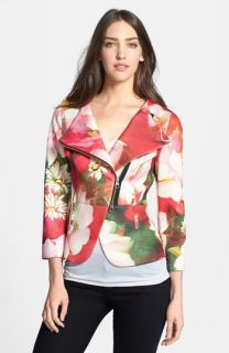 Ted Baker London Rose on Canvas Double Breasted Print Jacket