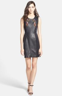 Rebecca Minkoff Maya Leather & Neoprene Sheath Dress