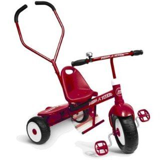 "Radio Flyer Dreirad Retro Style Classic Classic Red 10"" Tricycle mit Schubstange: Spielzeug"
