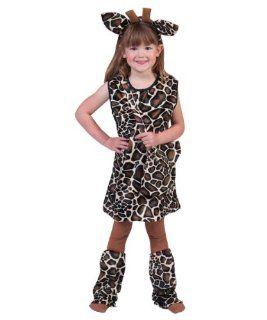Pierros Kost�m Kleid Giraffe Asali Kind Kinderkost�m M�dchen Kleid Haarreif Stulpen Gr. 116 128 140 164 f�r Karneval, Fasching, Motto, Fete, Feier und Party / Tier Giraffe: Spielzeug