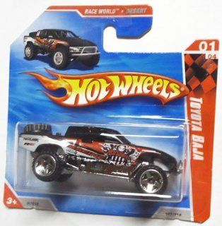 Hot Wheels 2010 Black TOYOTA BAJA truck #187/214, Race World Desert #1/4 (Short Card): Toys & Games