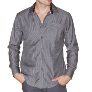 "191 Unlimited ""Amsterdam"" Gray Stripe Shirt at  Men�s Clothing store"