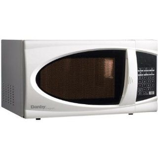 1.1 Cu. Ft. 1100 Watts Designer Microwave   White: Kitchen & Dining