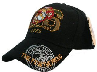 US Marines USMC 1775 Emblem Embroidered Baseball style Hat Cap: Sports & Outdoors