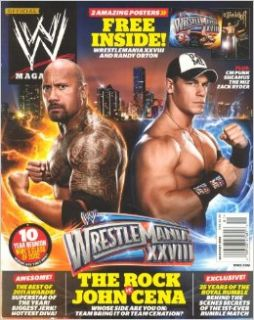 WWE Magazine January 2012   The Rock, John Cena: John Mihaly: Books