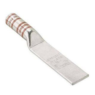 "Panduit LCC1000 00 3 Code Conductor Lug, Blank Tongue, Long Barrel, 1000kcmil Copper Conductor Size, White Color Code, 3 1/16"" Wire Strip Length, 0.32"" Tongue Thickness, 2.17"" Tongue Width, 2.99"" Neck Length, 7.29"" Overall Length:"