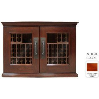 Vinotemp Vino sonoma296l vcc Sonoma Lux   296 model 192 Bottle Credenza Wine Cellar   Glass Door / Vintage Cherry On Cherry Cabinet: Appliances