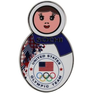 2014 USA Winter Olympics Sochi Nesting Doll Pin