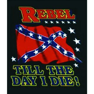 Rebel Till the Day I Die Queen Size Blanket   Bed Blankets