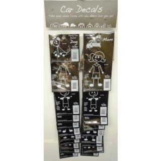 Family Car Decals Clip Strip   Case Pack 192 SKU PAS937894   Decor Gift Packages