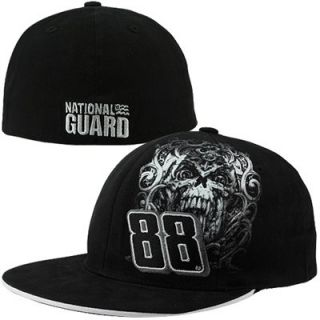 Dale Earnhardt Jr. National Guard #88 Flat Bill Flex Hat   Black