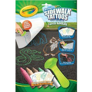 Crayola Sidewalk Tattoos Assorted: Toys & Games