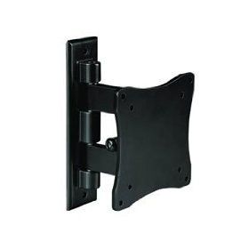 Low Profile Tilt / Swivel LED LCD TV HDTV Monitor WALL MOUNT Bracket VESA 75x75 / 100x100, Up to 33lb/15kg for Element ELCHS262 / Emerson LC195EMX LC195EM9 / Haier HLC19R1 HLC22R1 / Panasonic TC L22X2 / RCA L22HD34D L22HD41 / Samsung P2370HD P2570HD / Vizi