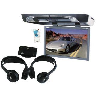 Pyle Great DVD System Package for Car/Truck/SUV    PLRD195IF 19 Inch Flip Down with Built in DVD/SD/USB Player with Wireless FM/ Modulator and IR Transmitter + PLVWH6 Dual Wireless IR Mobile Video Stereo Headphones with Transmitter. : Vehicle Dvd Players :
