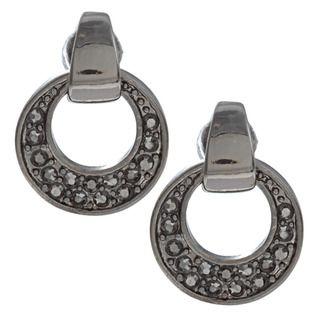 Kenneth Cole Pave CZ Post Door Knocker Earrings Kenneth Cole Fashion Earrings