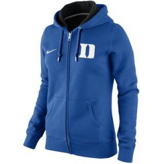 Nike Duke Blue Devils Ladies Full Zip Hoodie   Duke Blue