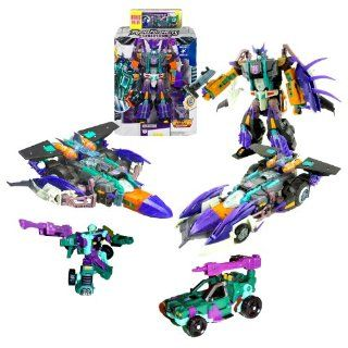 Hasbro Year 2004 Transformers Cybertron Series Leader Class 11 Inch Tall Electronic Robot Action Figure Bonus Value Set   Decepticon MEGATRON with Lights and Sounds, Hidden Missile Rack with 2 Missiles and Earth Planet Cyber Key (Vehicle Mode Cybertron Ra