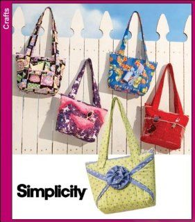 Simplicity 3822 Sew Pattern CRAFTY TOTE BAGS   5 Styles : Other Products : Everything Else