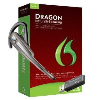 Nuance A209A G00 12.0 Dragon NaturallySpeaking Professional 12 Speech Recognition Software with Calisto Bluetooth Headset and USB Dongle: Everything Else