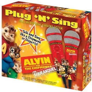 Emerson MM209A Alvin & The Chipmunks Dual Plug N Sing Microphones and 100 Songs on DVD: Musical Instruments