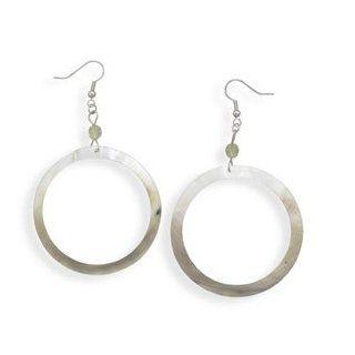 Open Shell Drop French Wire Earrings: West Coast Jewelry: Jewelry