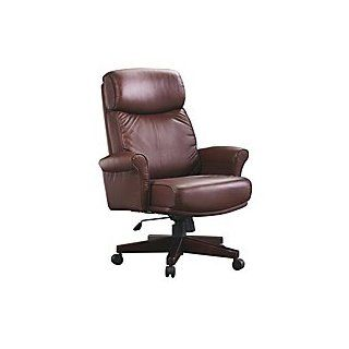 "La Z Boy� 1000 Series High Back Closed Arm Leather Chair, 46 1/2""H x 29""W x 30 5/8""D, Brown   Executive Chairs"