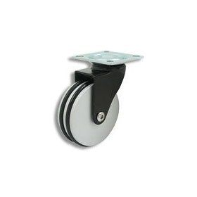 Cool Casters   Translucent Wheel Caster, Smoked Black Wheel Wheel, Chrome Yoke, Threaded Stem, No Brake   Item #300 75 ALBL BL SP NB: Industrial & Scientific