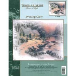 Thomas Kinkade Evening Glow Embellished Cross Stitch Kit MCG Textiles Cross Stitch Kits