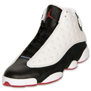 Men's Air Jordan Retro 13 Basketball Shoes  White/True Red/Black