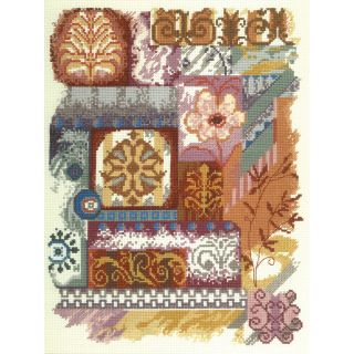 "Abstractions Abstract Collage Counted Cross Stitch Kit 11""X14"" 14 Count MCG Textiles Cross Stitch Kits"