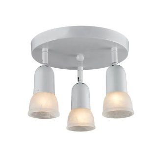 Z Lite 221 3 Light Semi Flush Mount Light with White Frame, White Swirl   Close To Ceiling Light Fixtures