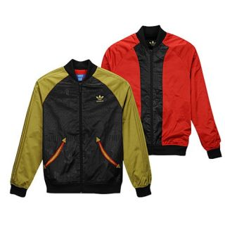 adidas Originals Reversible Jacket   Mens   Casual   Clothing   Black/Metallic Gold/Light Scarlet