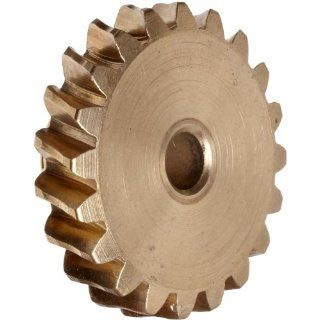 Martin Worm Gear, Single Thread, 10 Diametral Pitch, 14.5 Degree Pressure Angle, Bronze, Inch: Industrial & Scientific
