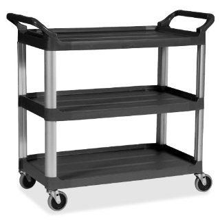 Rubbermaid Commercial Prod. 409100BK Mobile Utility Cart, 300 lb. Capacity, 20 in.x40 3/5 in.x37 4/5 in., Black: Office Products