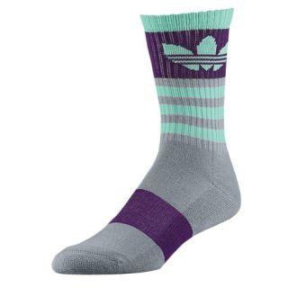 adidas Originals Trefoil Crew Socks   Youth   Casual   Accessories   Grey/Purple/Bahia Mint