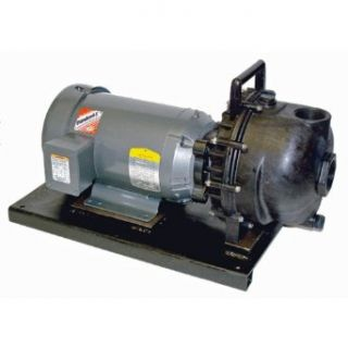 "Banjo 234PPE51V Polypropylene Centrifugal Pump, Electric Motor 5.0 HP Single Phase, with Viton Elastomers, 2"": Industrial & Scientific"