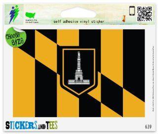 "Baltimore Maryland City Flag Car Sticker Indoor Outdoor 5"" x 3"" Automotive"